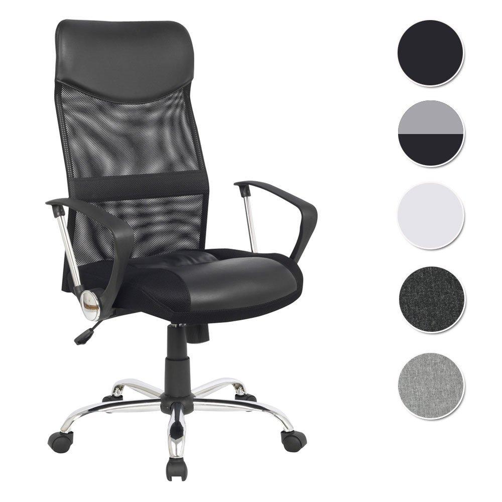 La chaise de bureau pivotante SixBros dispose d'accoudoirs